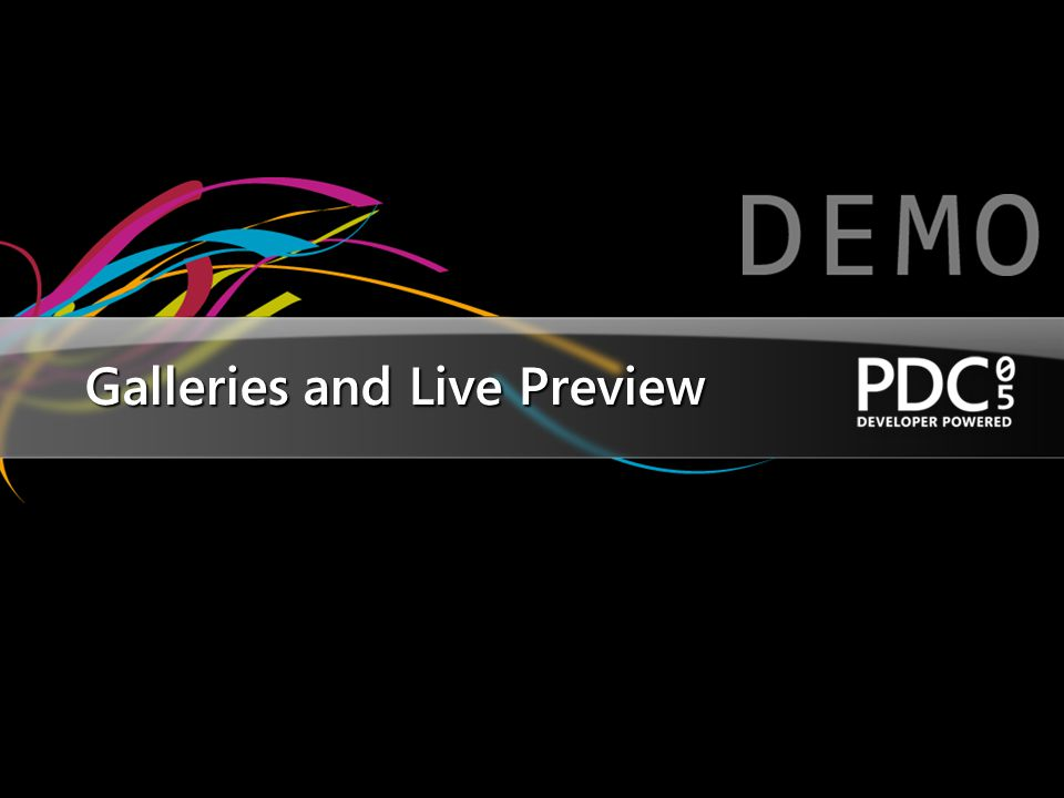 Galleries and Live Preview