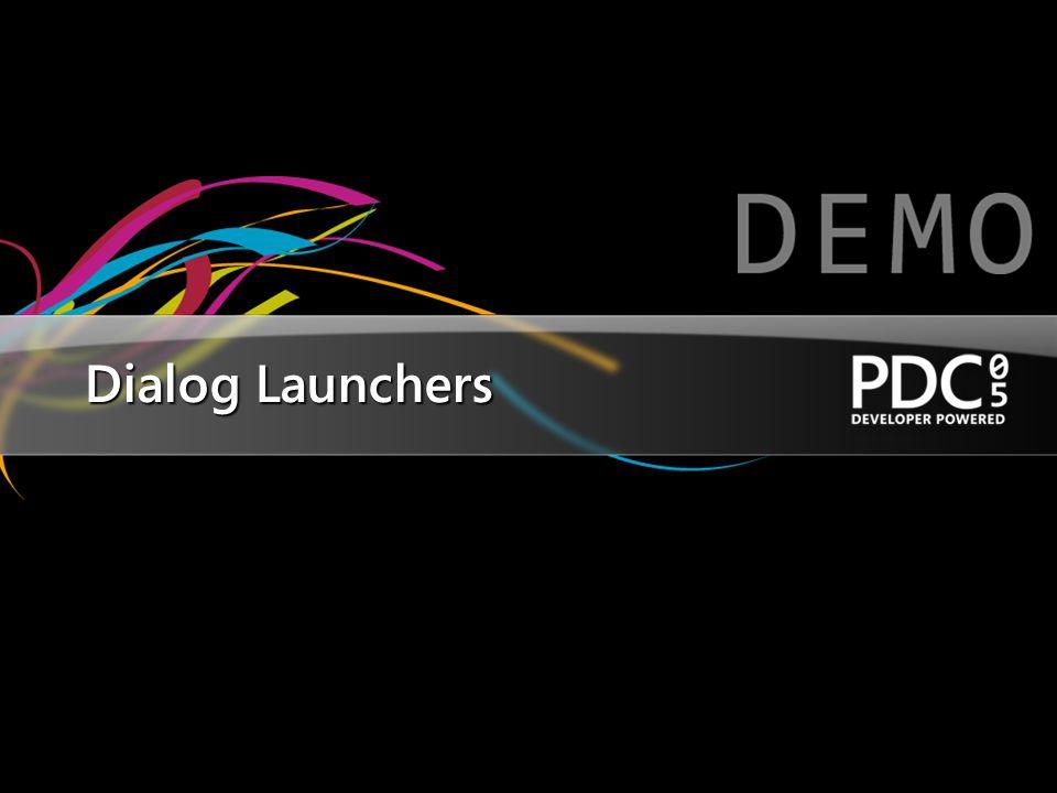 Dialog Launchers