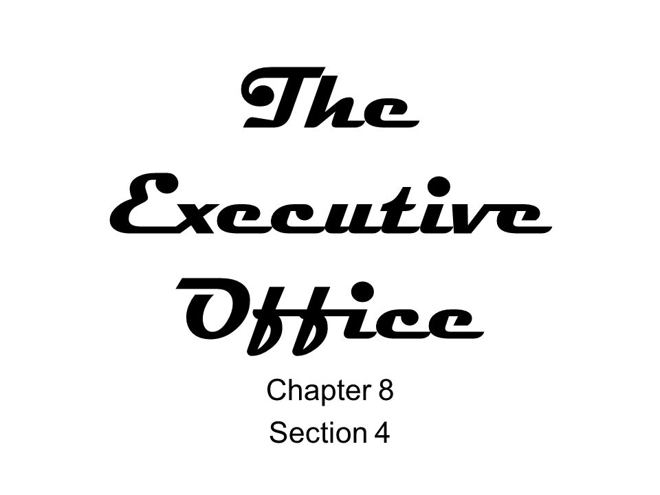 Executive Office Agencies The Executive Office of the President (EOP) was created by President Franklin D.