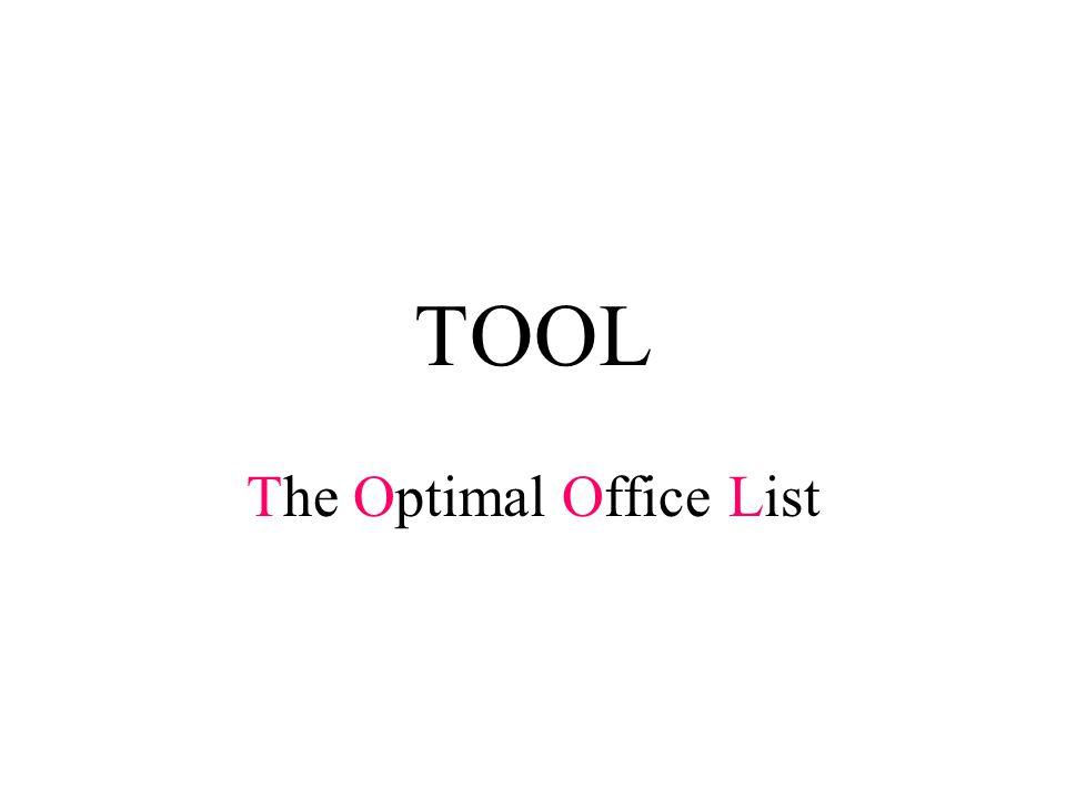 TOOL The Optimal Office List