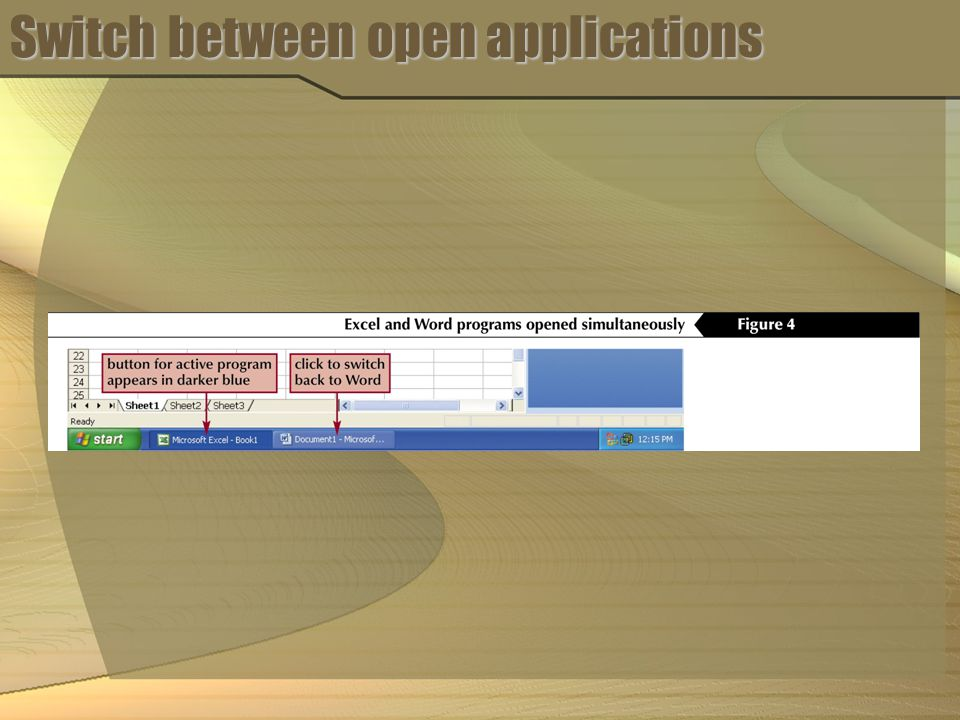 Switch between open applications