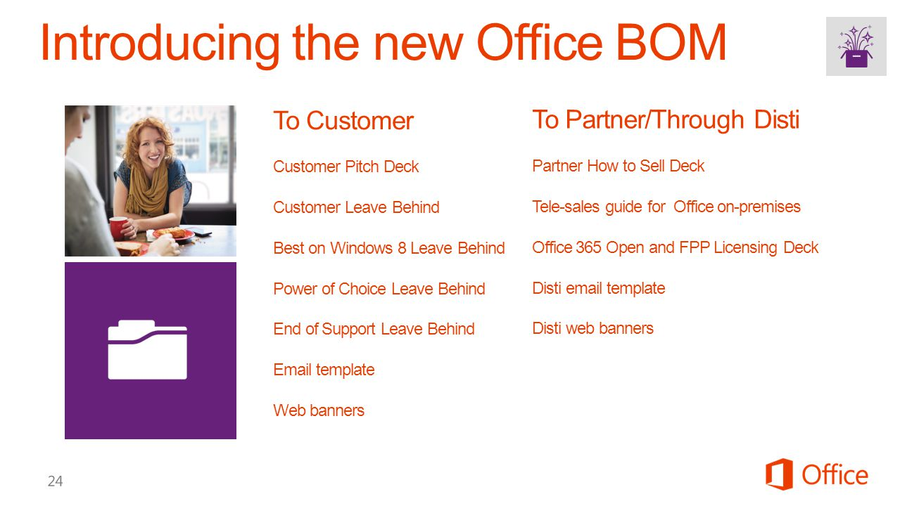 To Customer Customer Pitch Deck Customer Leave Behind Best on Windows 8 Leave Behind Power of Choice Leave Behind End of Support Leave Behind Email te