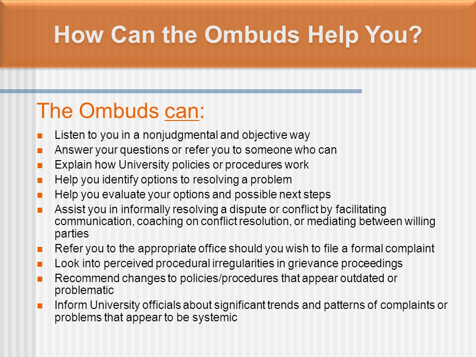 How Do Postdocs Contact the Ombuds.