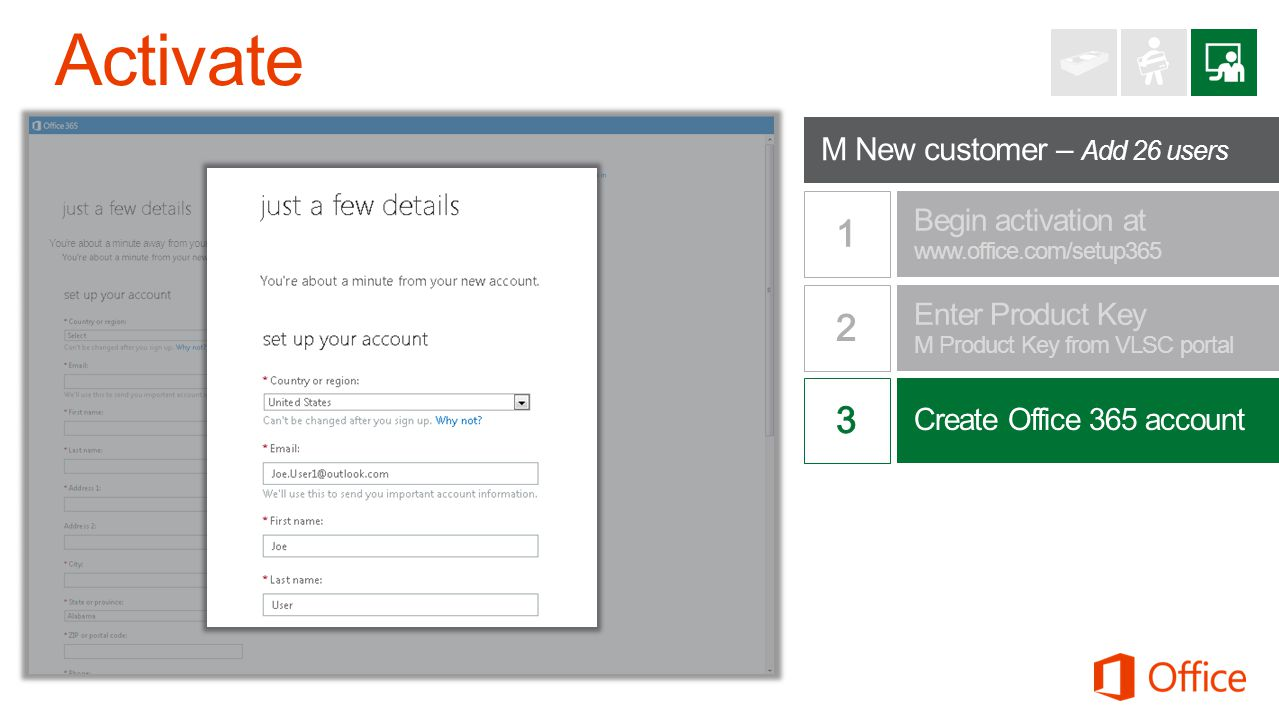 Office 365 Midsize Business Youre about a minute away from your new account.