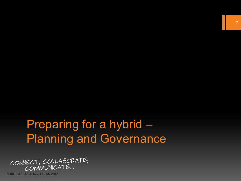 Preparing for a hybrid – Planning and Governance 7