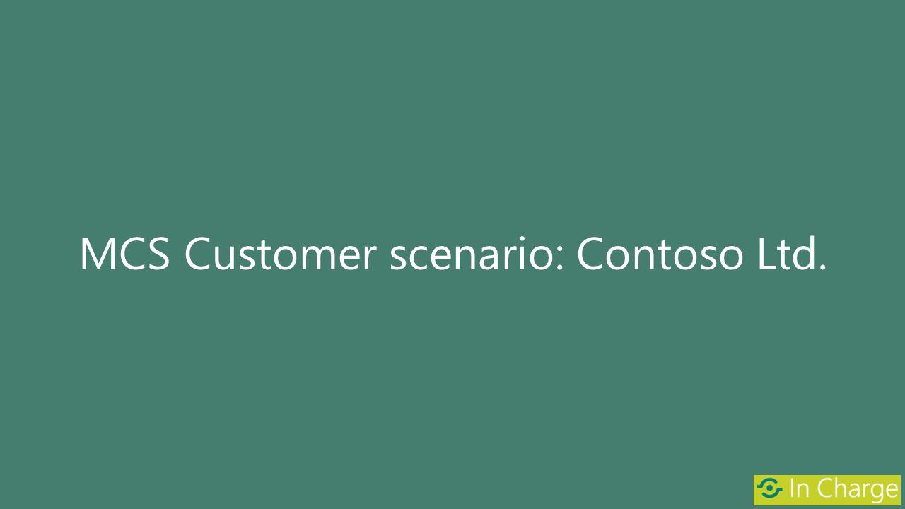 MCS Customer scenario: Contoso Ltd.