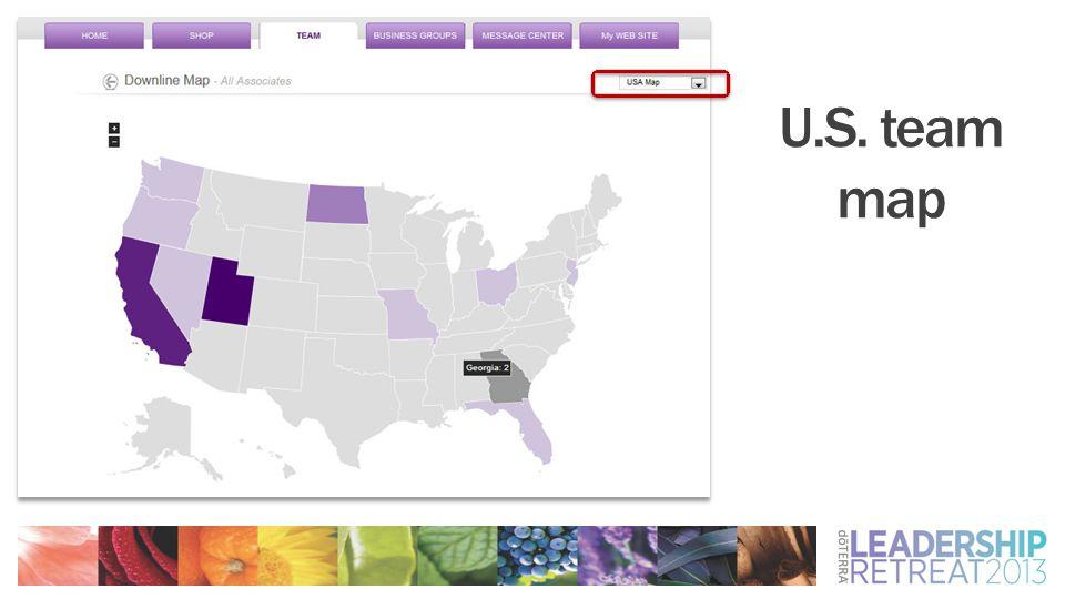 U.S. team map