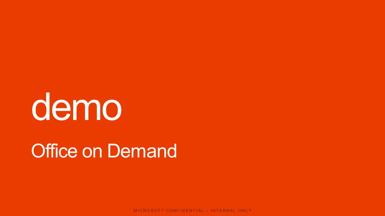 demo Office on Demand