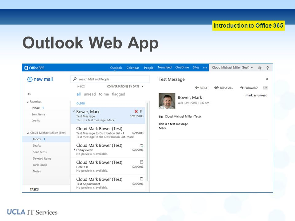 Introduction to Office 365 Outlook Web App