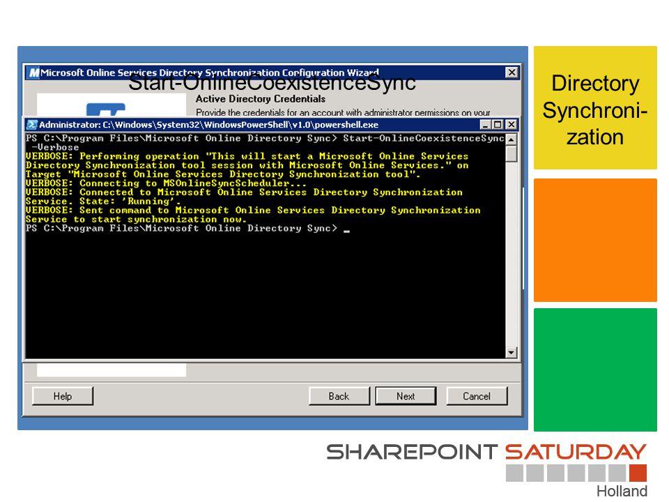 Directory Synchroni- zation Start-OnlineCoexistenceSync