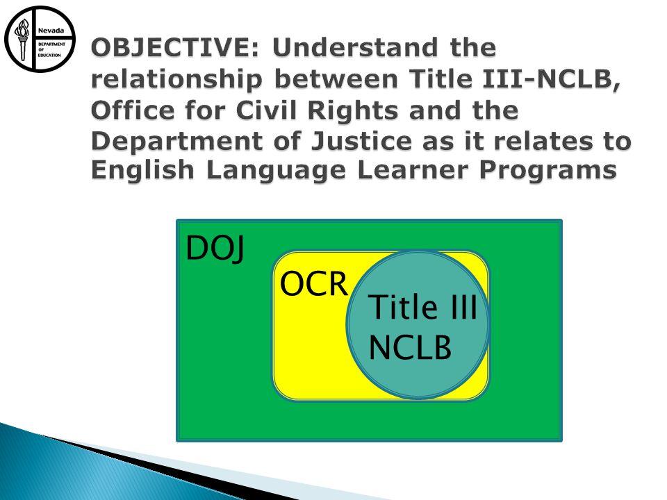 DOJ OCR Title III NCLB