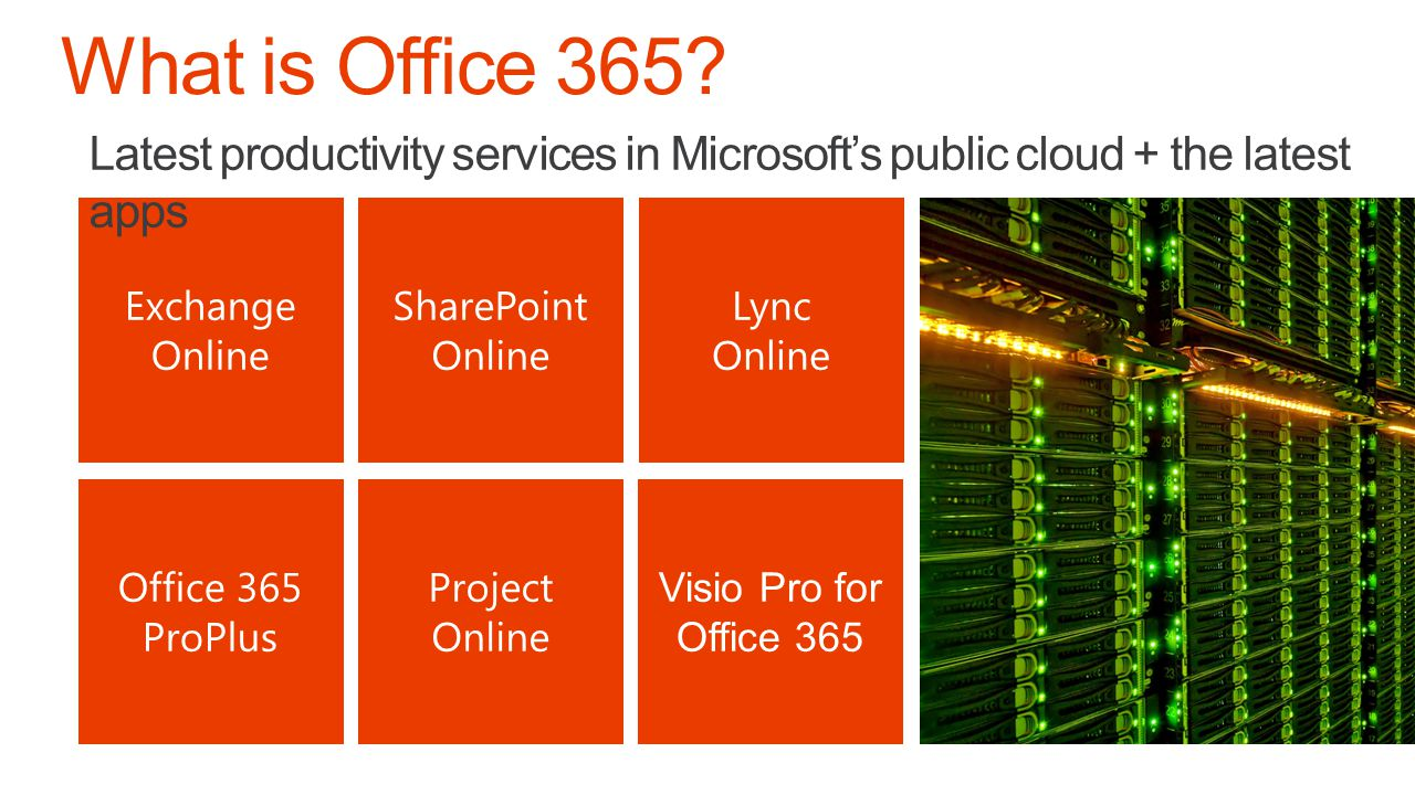 Office 365 Professional Plus Deployment Work PC Software Distribution Deploy Patch Office Content Delivery Network http://officecdn.microsoft.com Office 365 User Portal https://c2rsetup.officeapps.live.com https://portal.microsoftonline.com Personal Devices