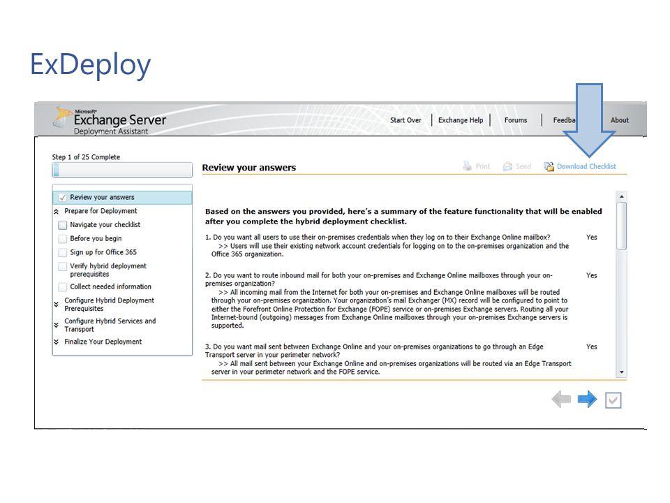 ExDeploy Microsoft Confidential 13