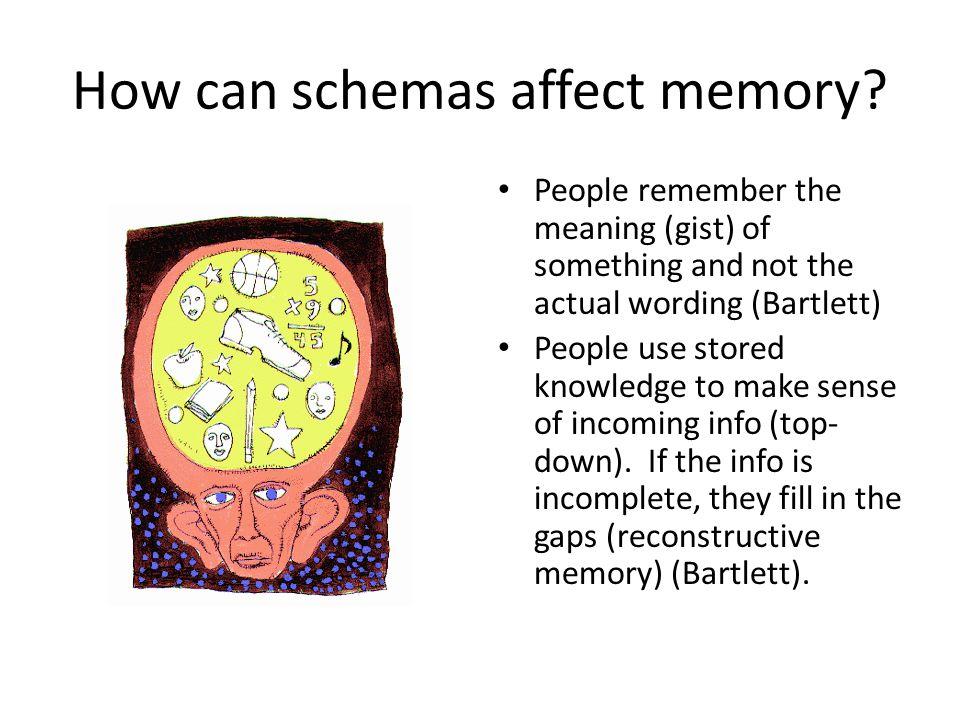 How can schemas affect memory.