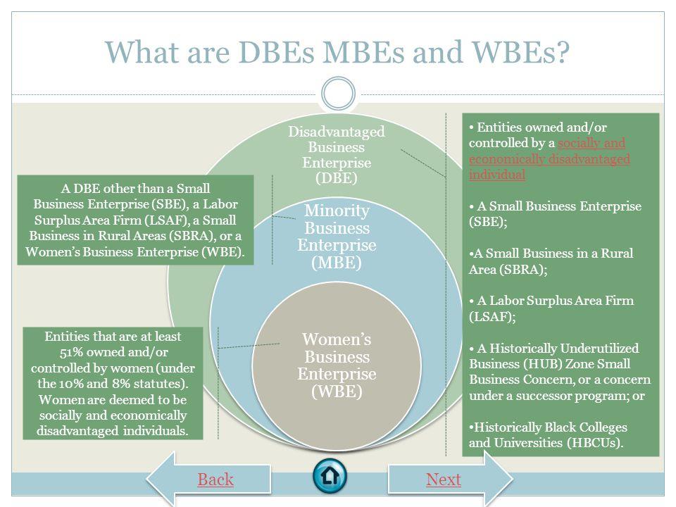 DISADVANTAGED BUSINESS ENTERPRISE (DBE) CERTIFICATION EPA Office of Small Business Programs Disadvantaged Business Enterprise (DBE) Program Computer-B