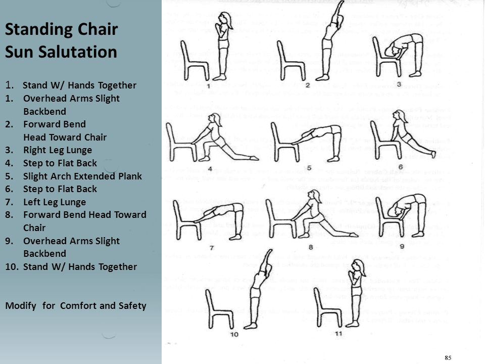 Standing Chair Sun Salutation 1.