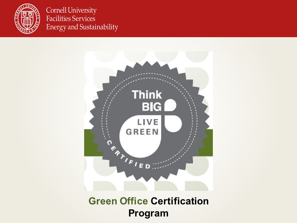 What is a Green Office Certification.