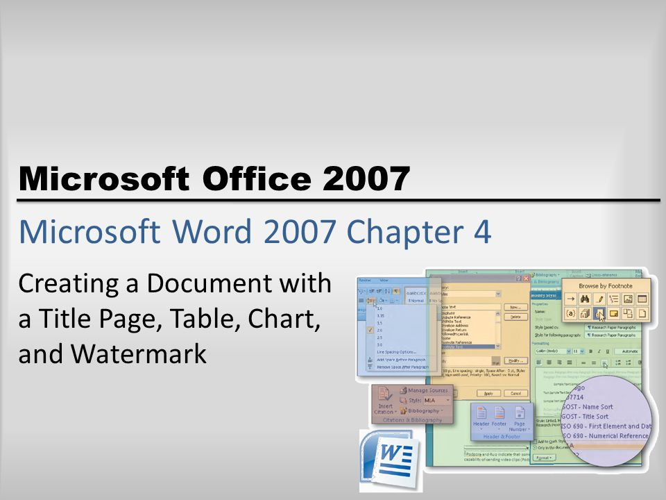 Objectives Border and shade a paragraph Insert and format a SmartArt graphic Insert a watermark Insert a section break Insert a Word document in an open document Insert headers and footers Microsoft Office 2007: Complete Concepts and Techniques - Windows Vista Edition2