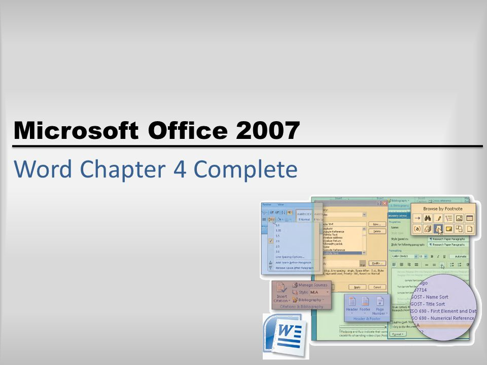 Microsoft Office 2007 Word Chapter 4 Complete