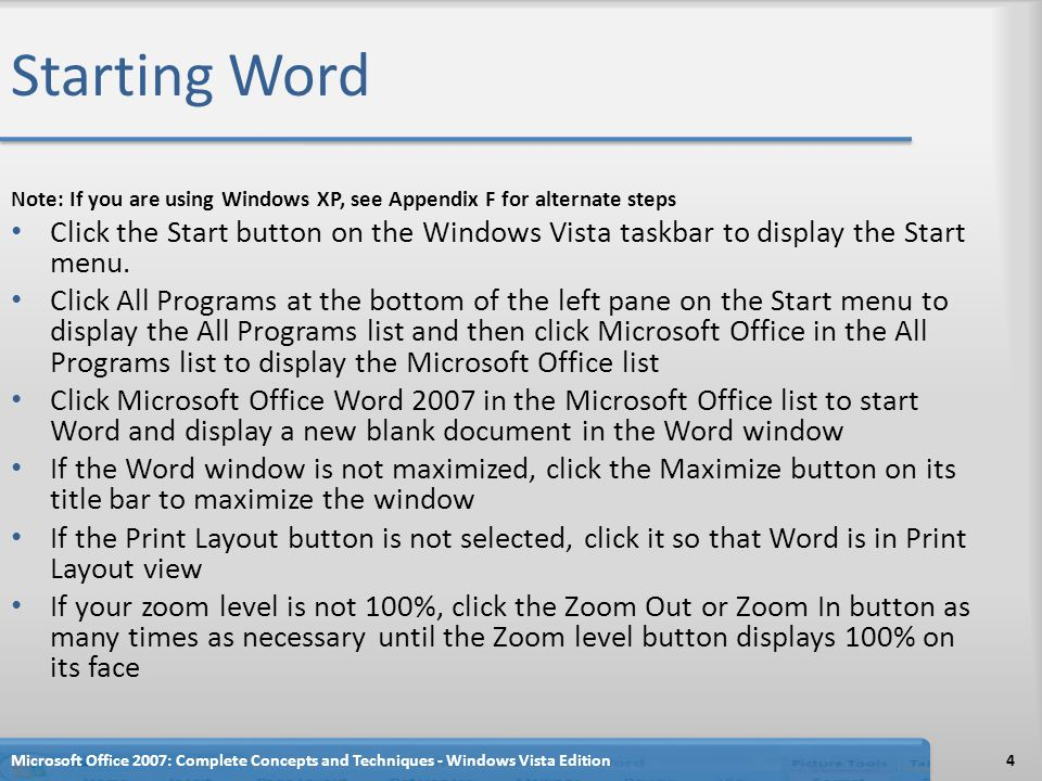 Formatting Text Using the Mini Toolbar Microsoft Office 2007: Complete Concepts and Techniques - Windows Vista Edition25