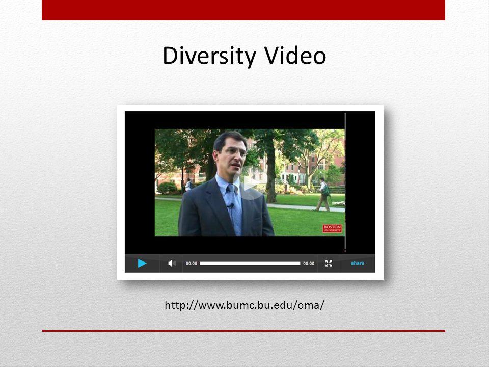 http://www.bumc.bu.edu/oma/ Diversity Video