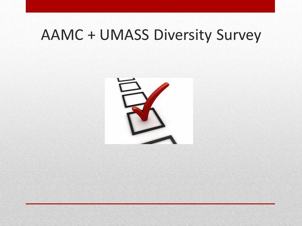 AAMC + UMASS Diversity Survey