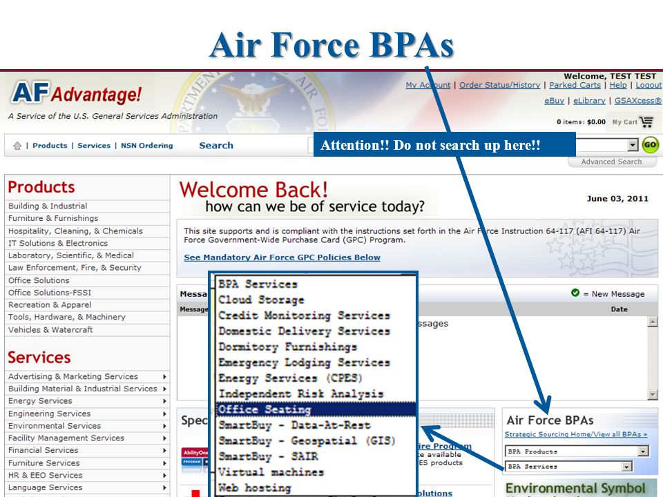 Air Force BPAs Attention!! Do not search up here!!