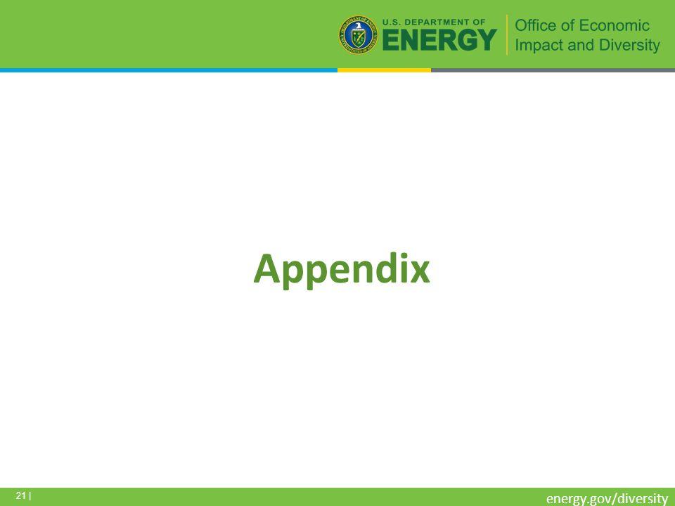 21 | energy.gov/diversity Appendix