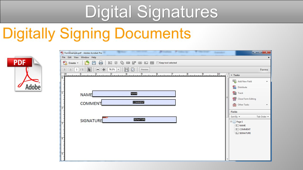 Digital Signatures Open Adobe Acrobat Pro