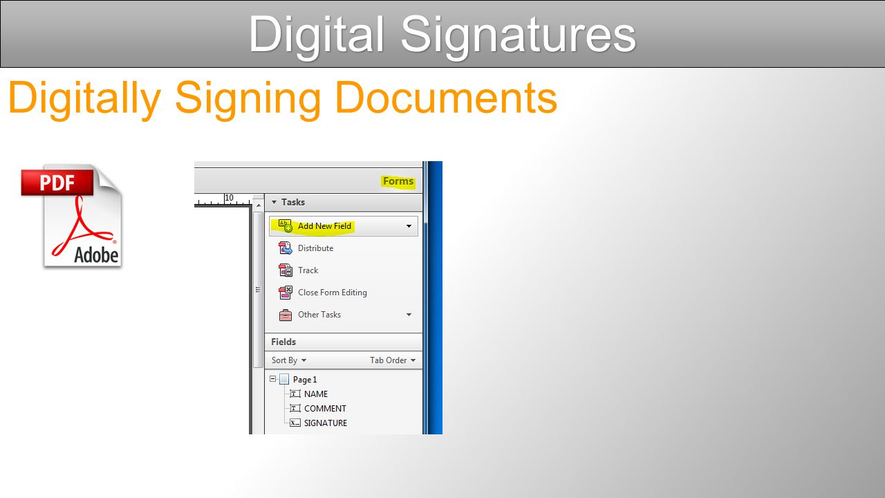 Digital Signatures Digitally Signing Documents