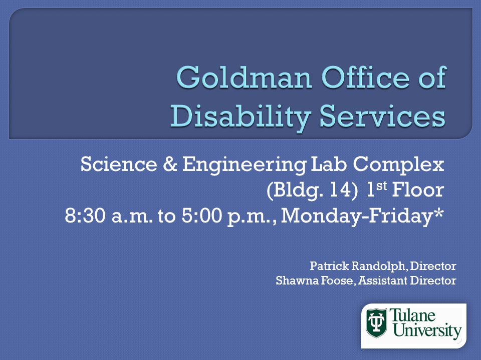 Located in the Science & Engineering Lab Complex Building 14 on the campus map First floor