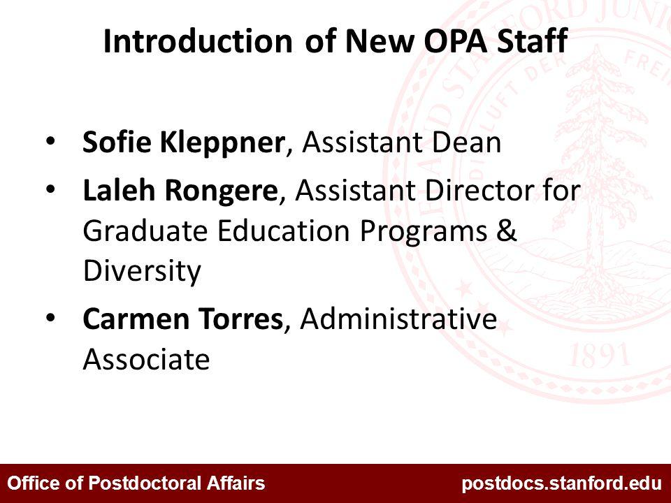 Office of Postdoctoral Affairs postdocs.stanford.edu Mentoring Sofie Kleppner