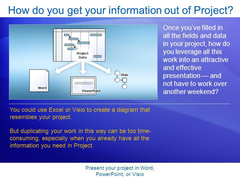 Present your project in word powerpoint or visio copy project present your project in word powerpoint or visio how do you get your information ccuart Gallery