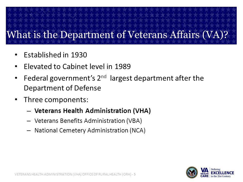 VETERANS HEALTH ADMINISTRATION (VHA) OFFICE OF RURAL HEALTH (ORH) - 26 Additional Resources: ORH Website www.ruralhealth.va.gov