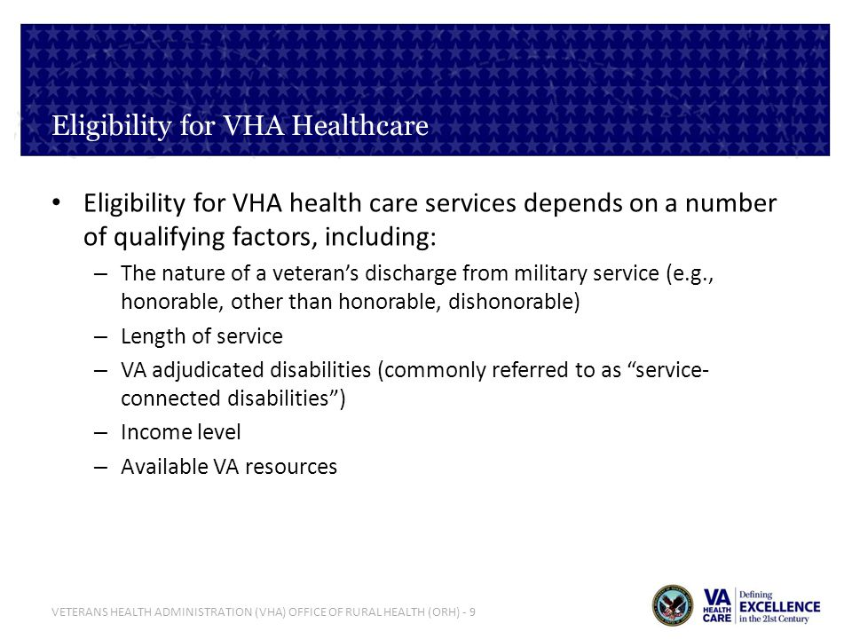 VETERANS HEALTH ADMINISTRATION (VHA) OFFICE OF RURAL HEALTH (ORH) - 20 ORH Priorities – FY 2013 Category Project ARCH - Public Law 110-387, Section 403 VA must conduct a pilot program to provide non-VA care for eligible, highly rural enrolled Veterans in five VISNs (VISNs 1,6,15, 18 & 19) SCAN-ECHO RFPSpecialty Care Access Network-Extension for Community Healthcare Outcomes Rural Health Training and Education Initiative (RHTI) Inter-professional, team-based models of training to deliver care to rural Veterans at 7 sites New, sustained/existing, and expansion projects for FY13 Approved projects address many VHA and ORH priorities such as Telehealth, Women veterans, Mental Health, Homelessness, and Access & Quality