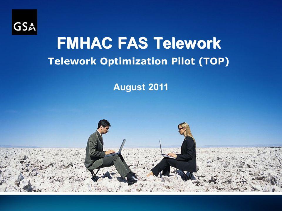 FMHAC FAS Telework Telework Optimization Pilot (TOP) August 2011