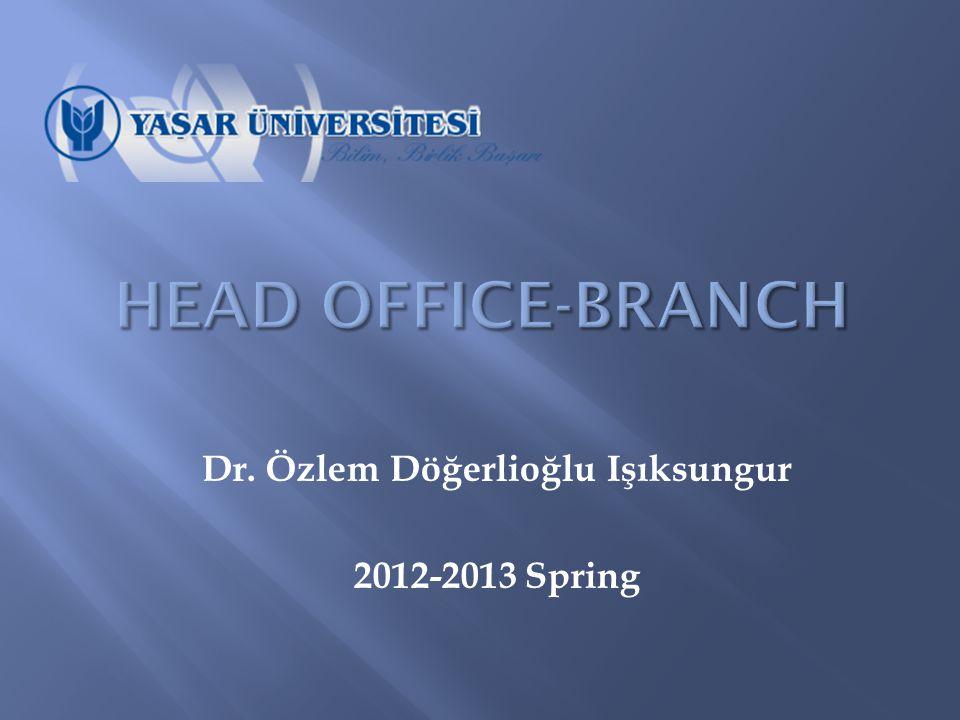 Dr. Özlem Döğerlioğlu Işıksungur 2012-2013 Spring