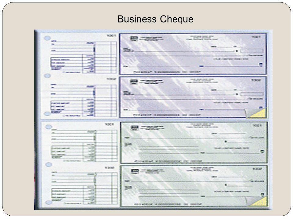 Business Cheque