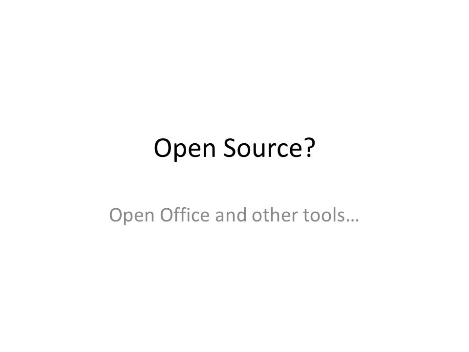 Open Office isnt the only useful free product