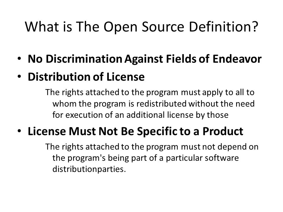 What is The Open Source Definition.