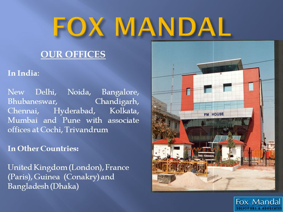 OUR OFFICES In India : New Delhi, Noida, Bangalore, Bhubaneswar, Chandigarh, Chennai, Hyderabad, Kolkata, Mumbai and Pune with associate offices at Co
