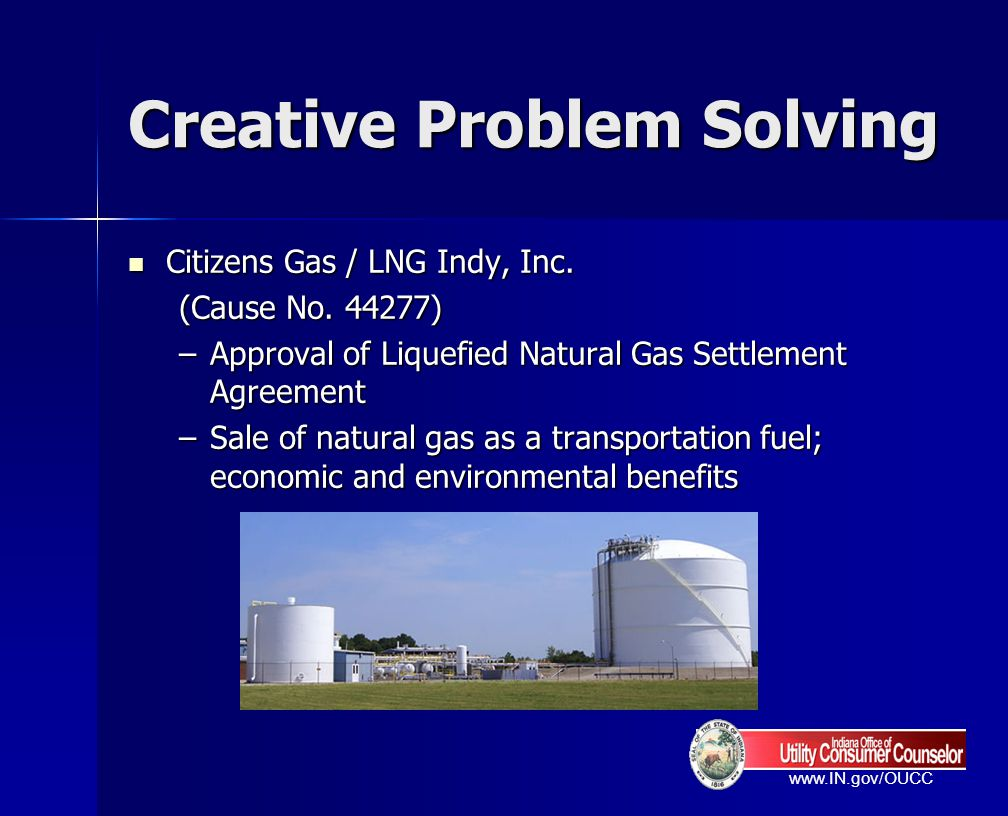 www.IN.gov/OUCC Creative Problem Solving Indiana Michigan Power Company (I&M) Indiana Michigan Power Company (I&M) (Cause No.
