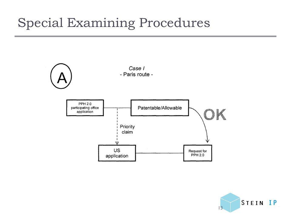 Special Examining Procedures 13
