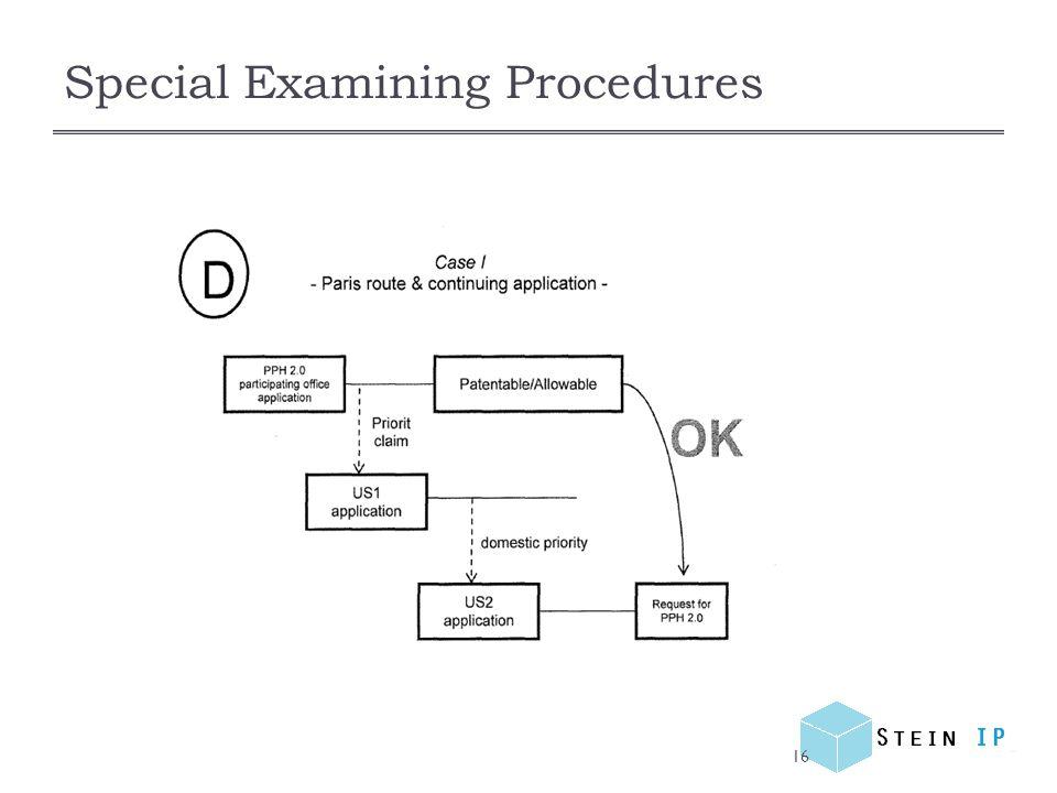Special Examining Procedures 16