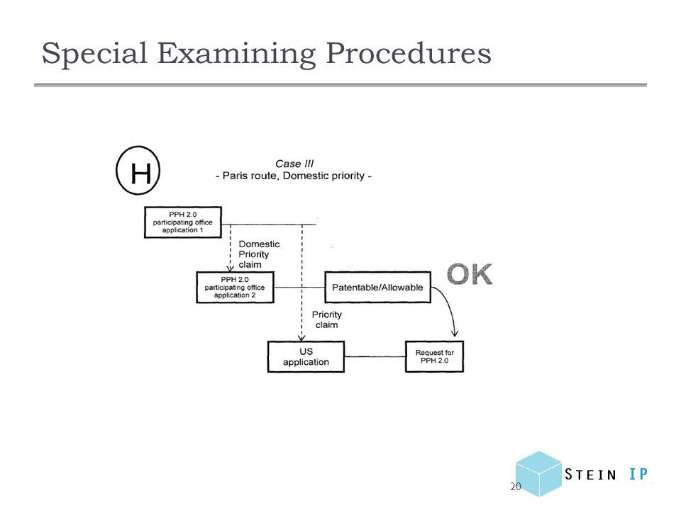 Special Examining Procedures 20