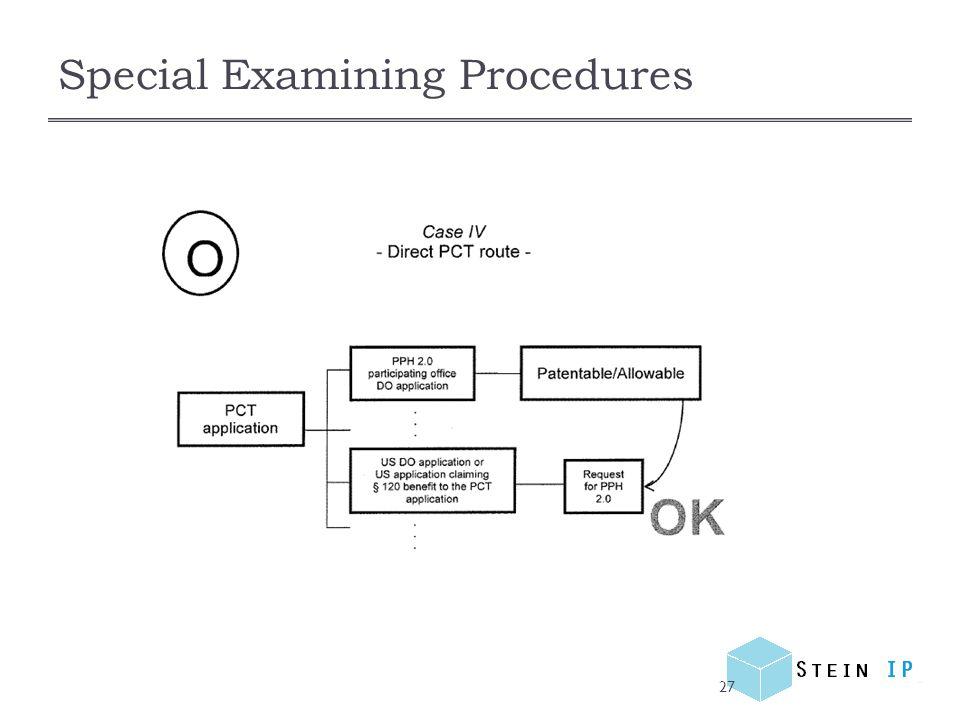 Special Examining Procedures 27
