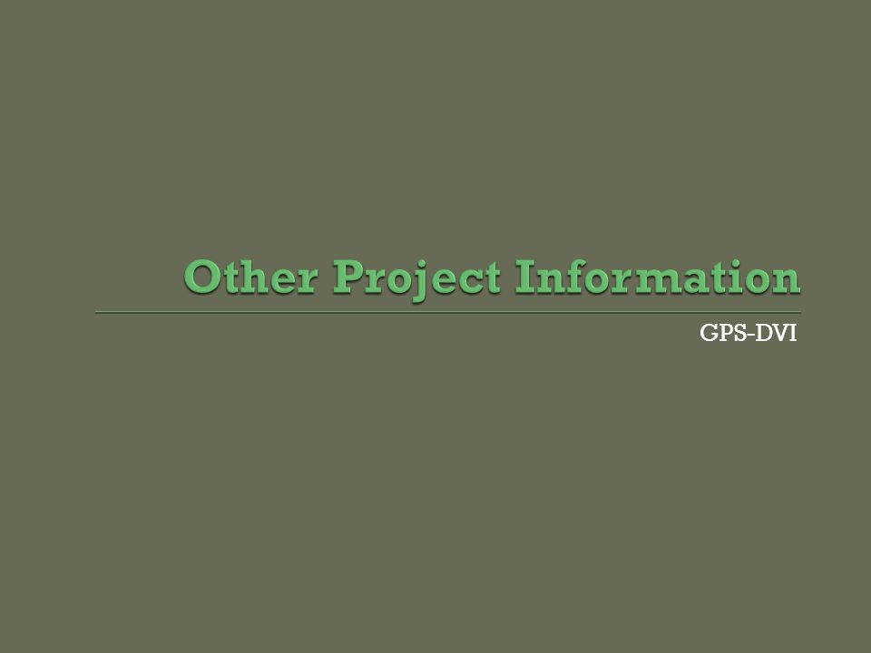 GPS-DVI