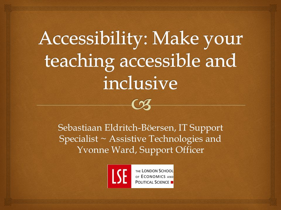 Sebastiaan Eldritch-Böersen, IT Support Specialist ~ Assistive Technologies and Yvonne Ward, Support Officer