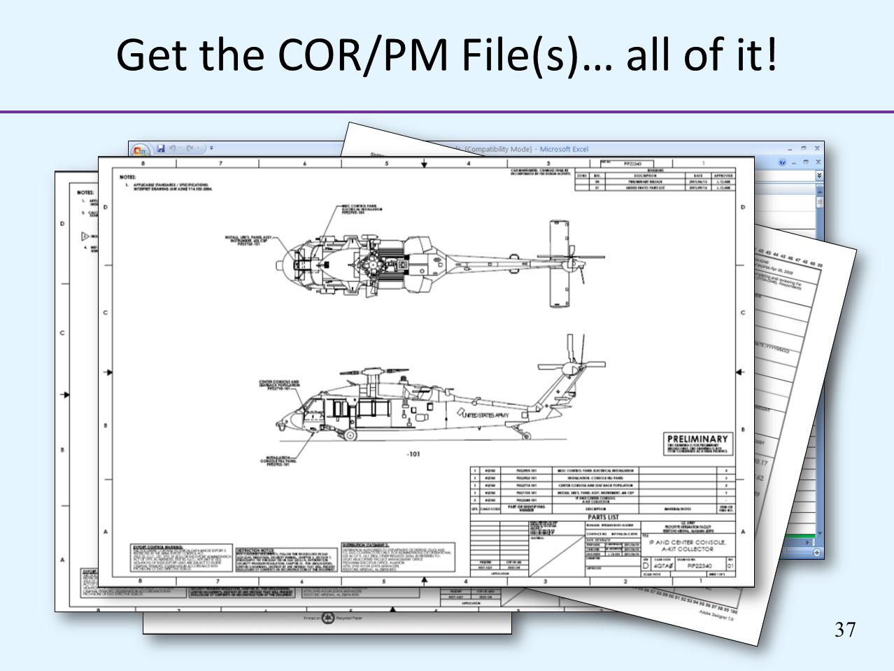 37 Get the COR/PM File(s)… all of it!