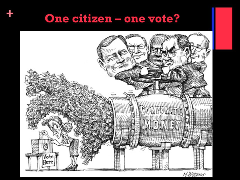 + One citizen – one vote?
